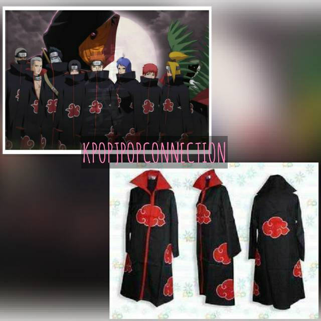 harga Jubah Akatsuki Robe Naruto Cosplay Import Tokopedia.com