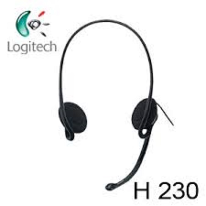 harga Headset logitech H230 stereo garansi 1 tahun Tokopedia.com