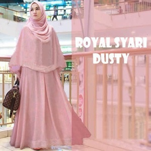 Jual Baju Gamis Gamis Hijab Royal Syar I Dusty Qs Bgzc0450