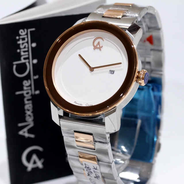 harga Alexandre Christie Ac 8357 ROSEGOLD COMBI SILVER ORIGINAL for MEN Tokopedia.com