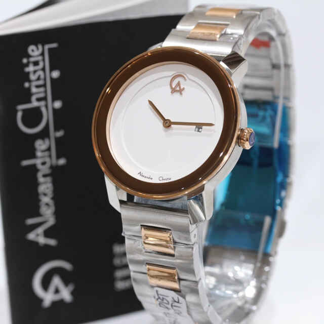 harga Alexandre Christie Ac 8357 ROSEGOLD COMBI SILVER ORIGINAL for LADIES Tokopedia.com