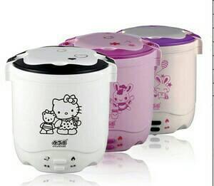 harga MINI RICE COOKER HELLO KITTY SLOW WARMER 2 SUSUN KITTY NASI BUBUR Tokopedia.com
