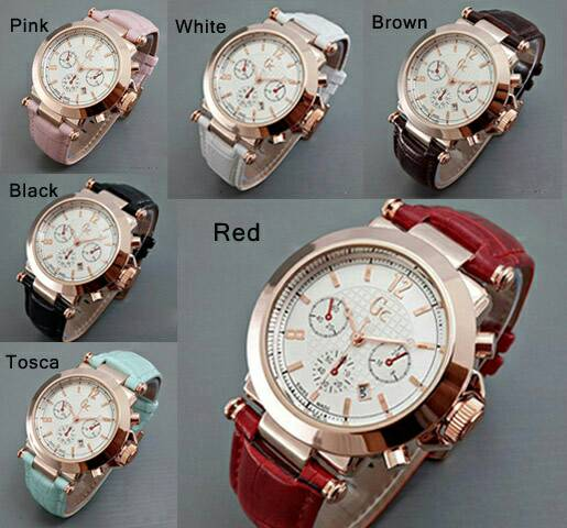 JAM TANGAN GC Chrono Polos Leather / JAM TANGAN WANITA / GUCCI
