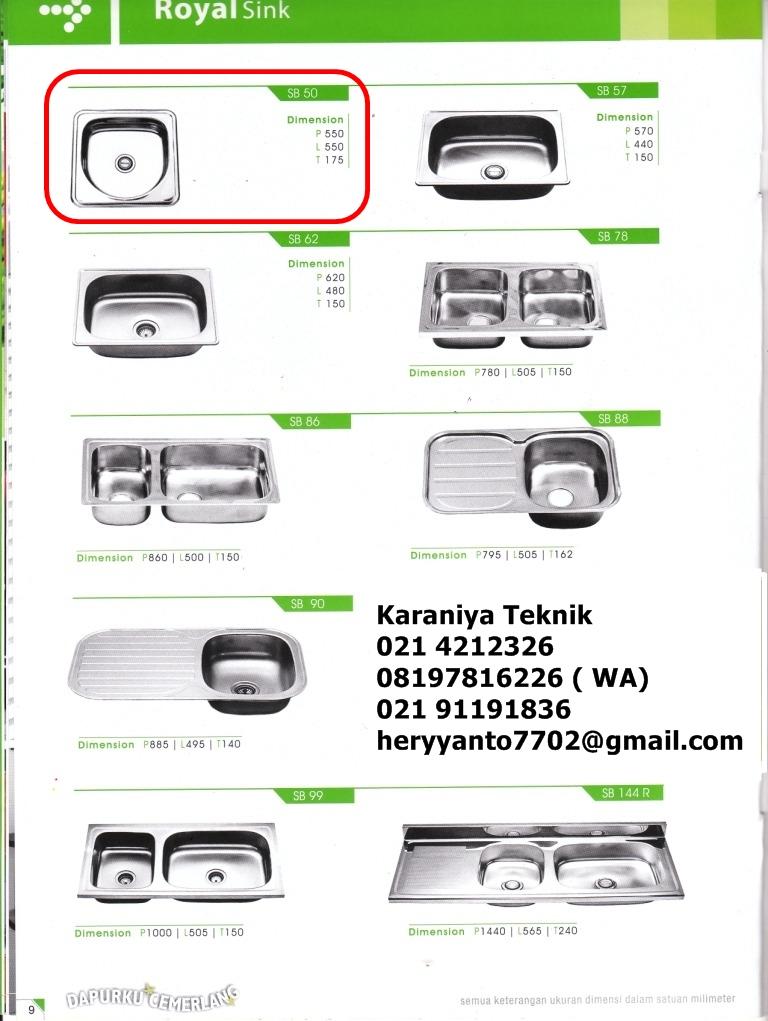 Type of sink ryno steel inox products rvs muurwastroggen for Harga kitchen cabinet