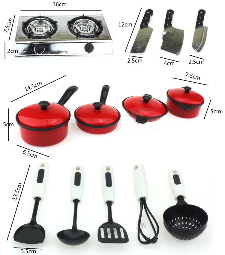 Jual 13pcs alat peralatan masak mainan anak panci kompor for Peralatan kitchen set