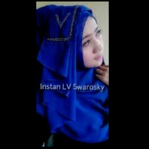 Hijab Murah Jilbab Instant LV Swarowsky