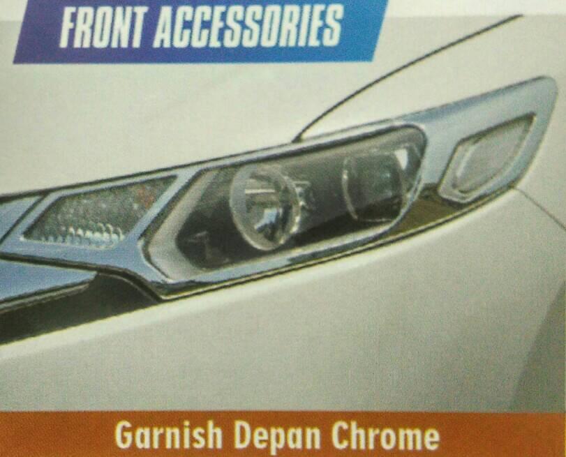 Paket Garnis Depan+Belakang Jazz 2014 Chrome