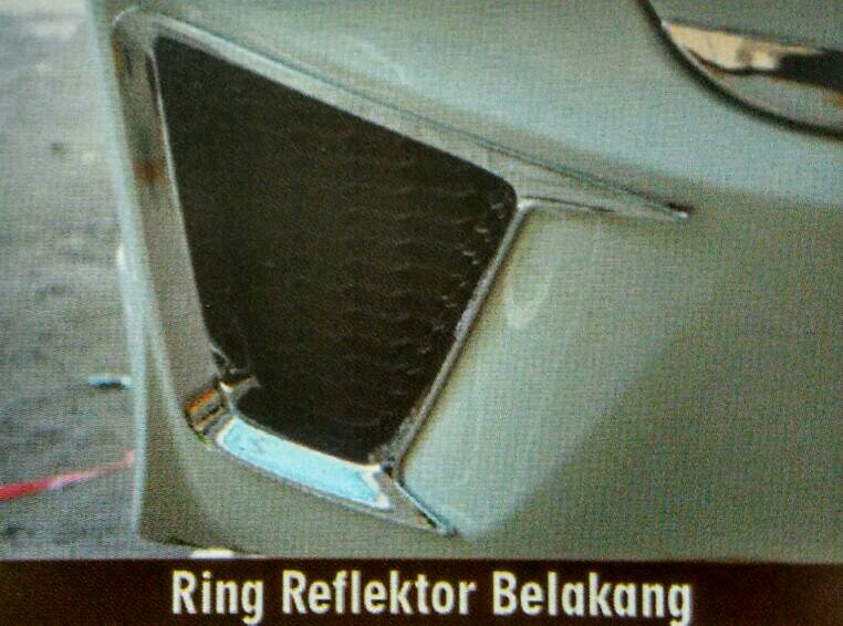 Ring Reflektor Belakang Jazz 2014 Chrome