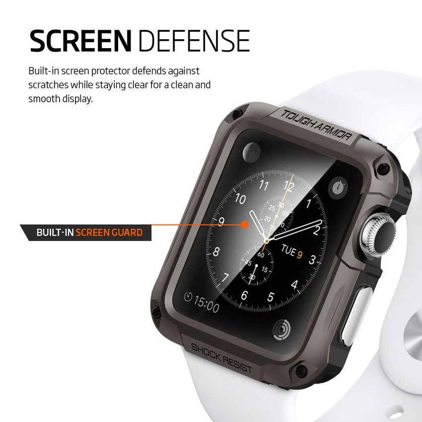 Spigen SGP Apple Watch 42mm Tough Armor - Gun Metal