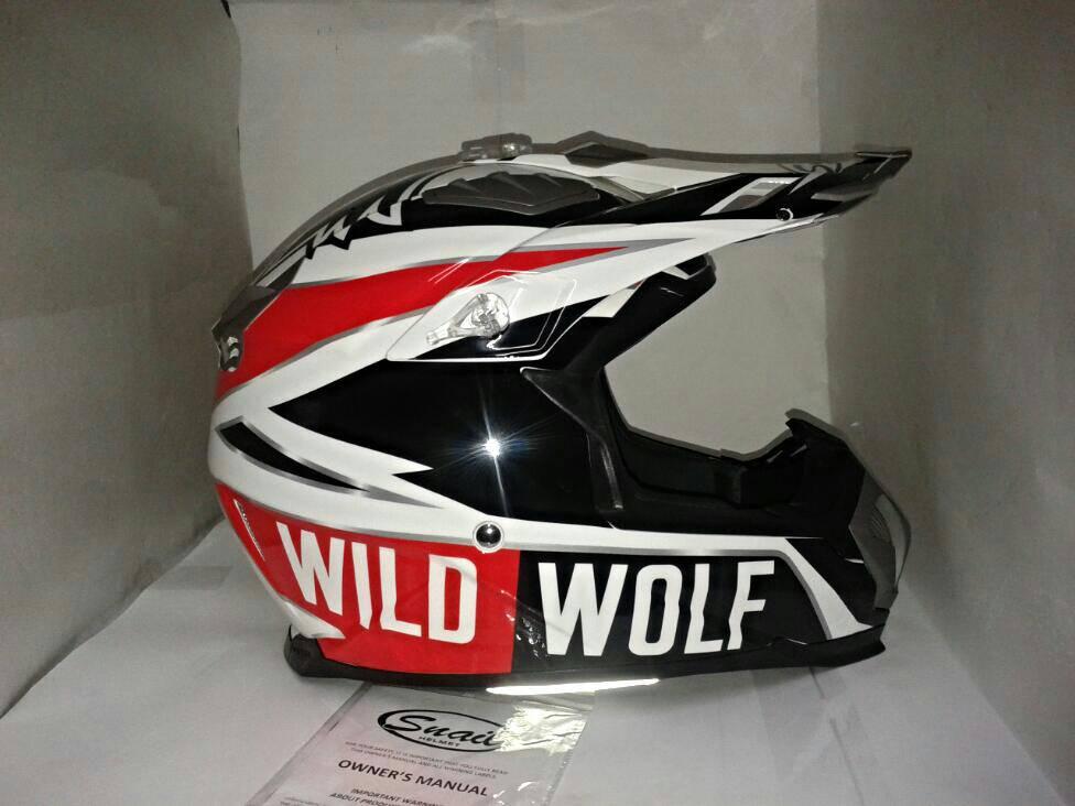 helm snail cross mx 315 wild wolf
