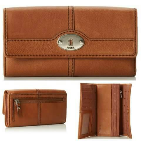 Jual Dompet Fossil Marlow Flap Clutch Brown Amp Black