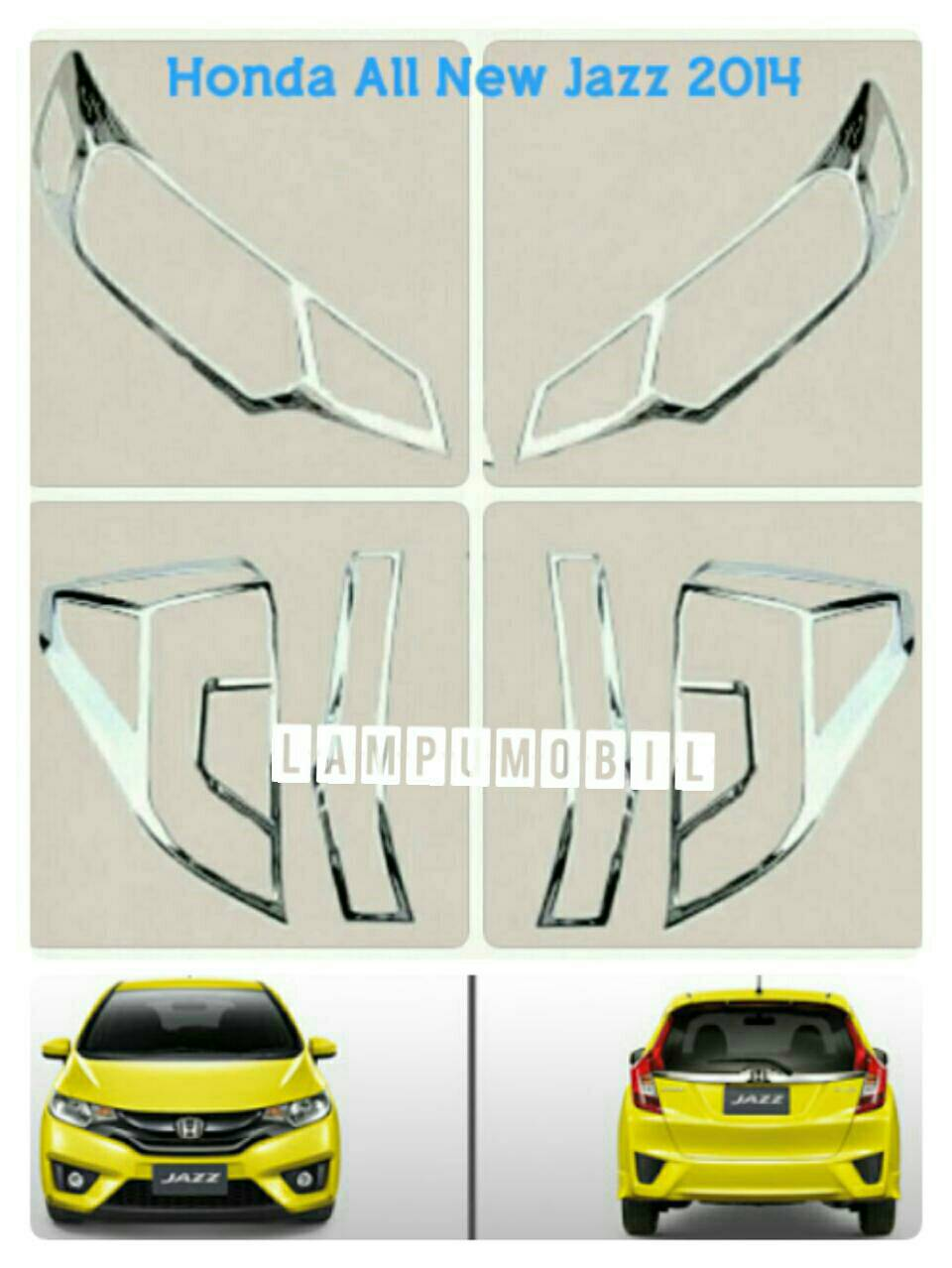 Garnish Lampu Set Honda All New Jazz 2014+