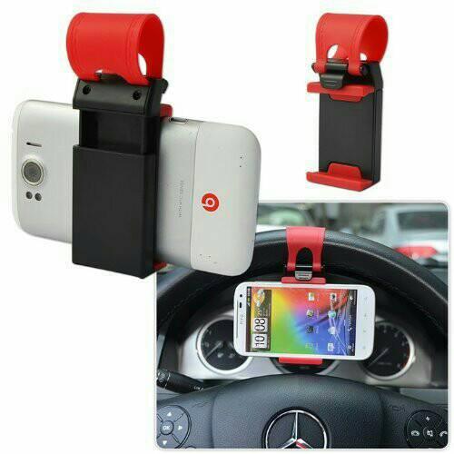 Car Holder Universal Steering Wheel Untuk Mobil/Stang Mobil/Sepeda