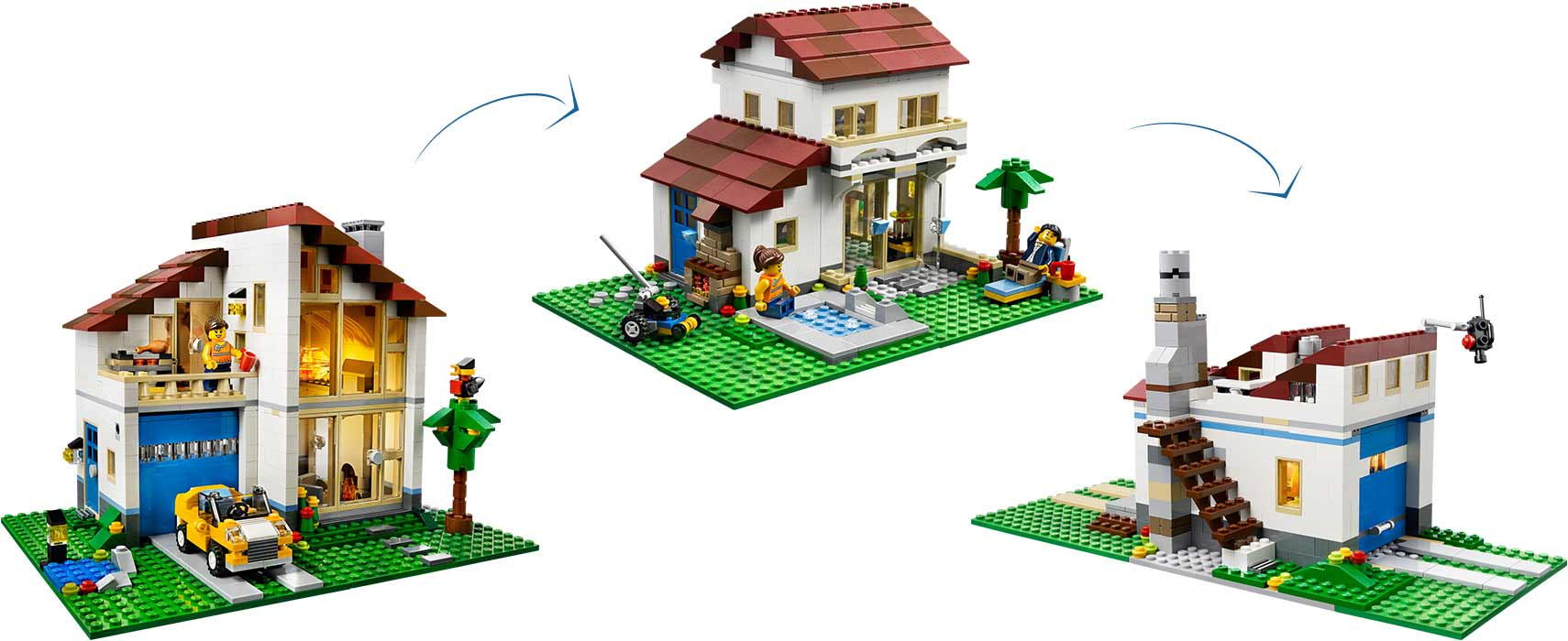 Jual lego creator 31012 family house 3 in 1 ctft store for House creator