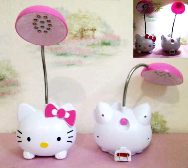 Lampu Baca Meja Belajar Mini LED Lamp Emergency Karakter Hello Kitty