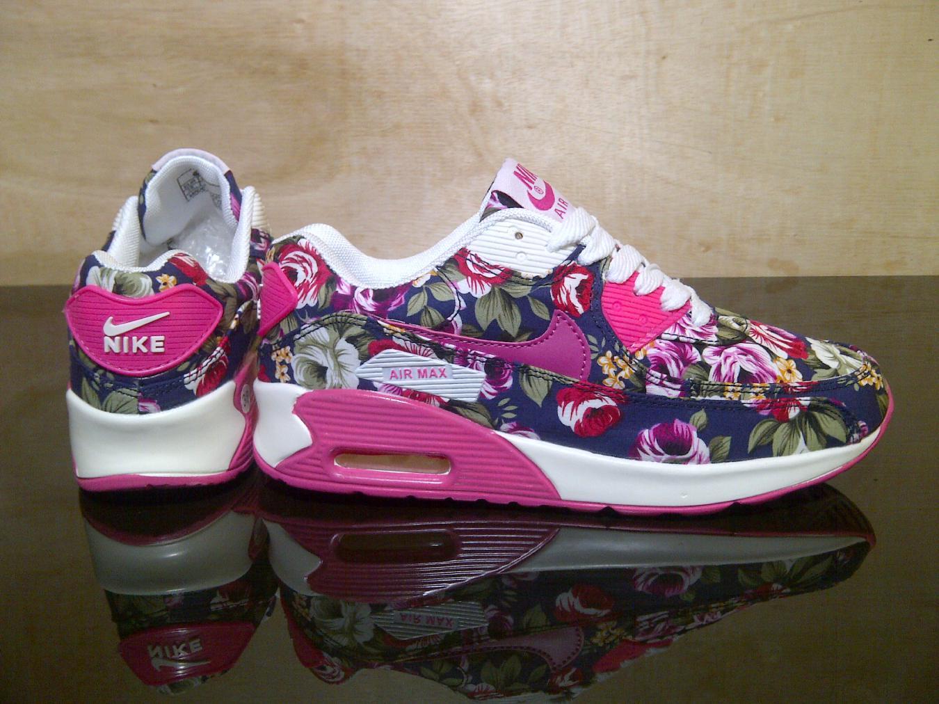 Jual sepatu sport   sepatu wanita   nike airmax 90 flower - hana shoes ... 5f3f3a91ab