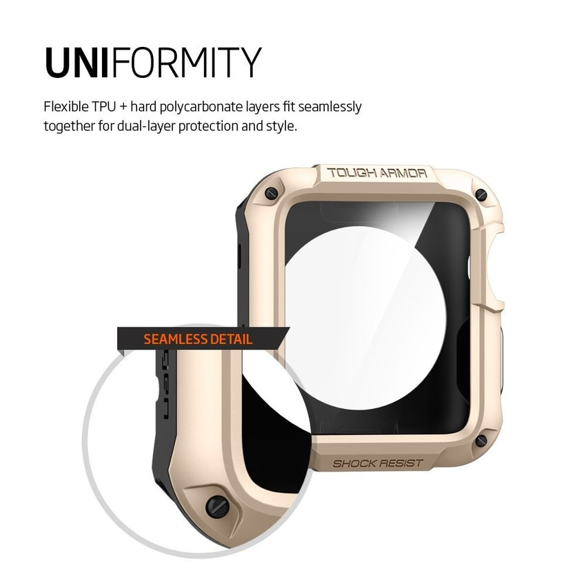 Spigen SGP Apple Watch 42mm Tough Armor - Champagne Gold