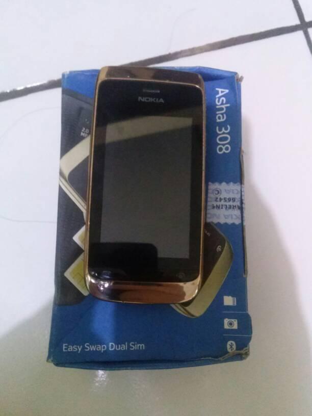 Nokia Asha 308 Dual Sim - Orisinil Tangan Pertama, Jarang Digunakan