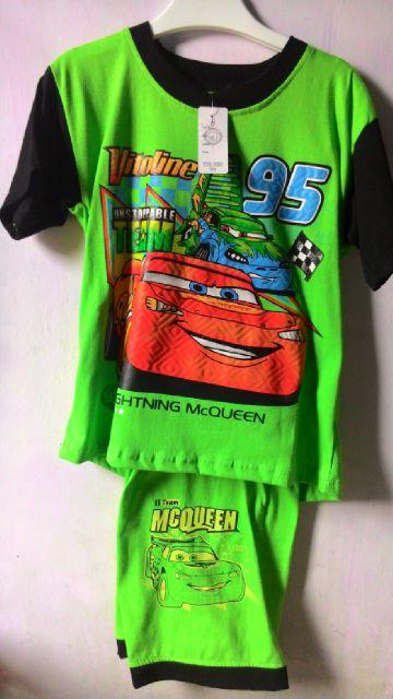 Baju / kaos Stelan Celana Anak Laki-laki motif MC Queen Mobil balap