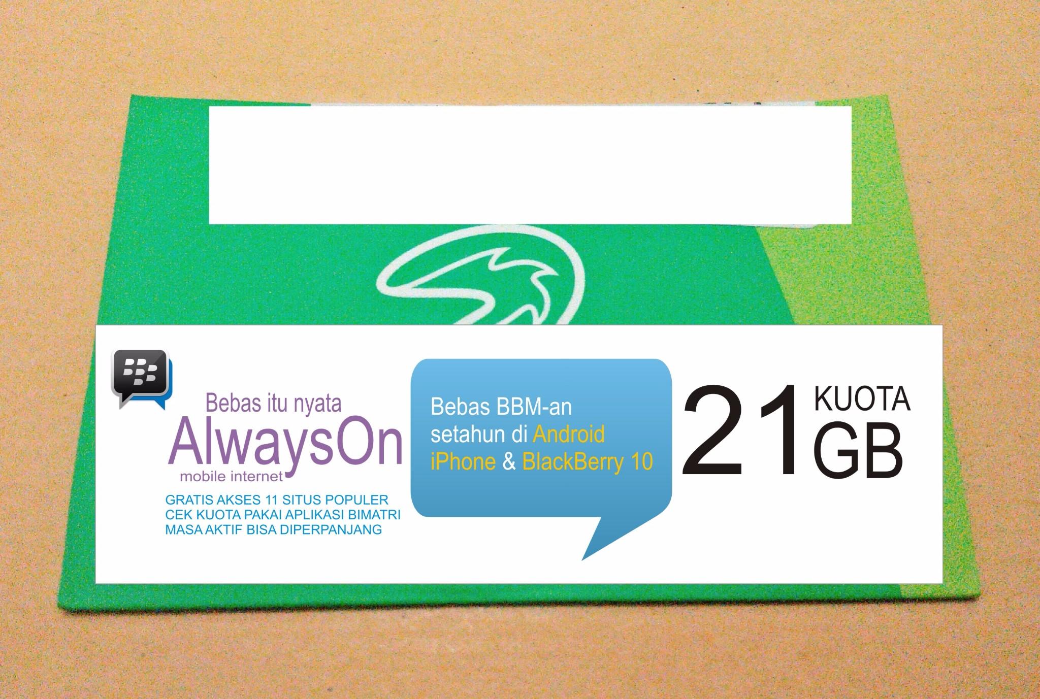 harga Kartu Perdana Internet Tri 3 Three Aon  21GB 21 GB Tahun Tokopedia.com