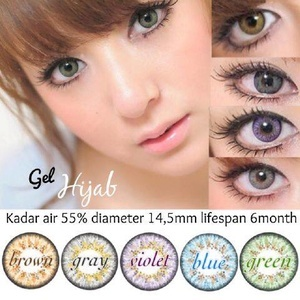 Softlens Gel HIJAB / Soft Lens Gel HIJAB DIA 14.5 MADE IN KOREA
