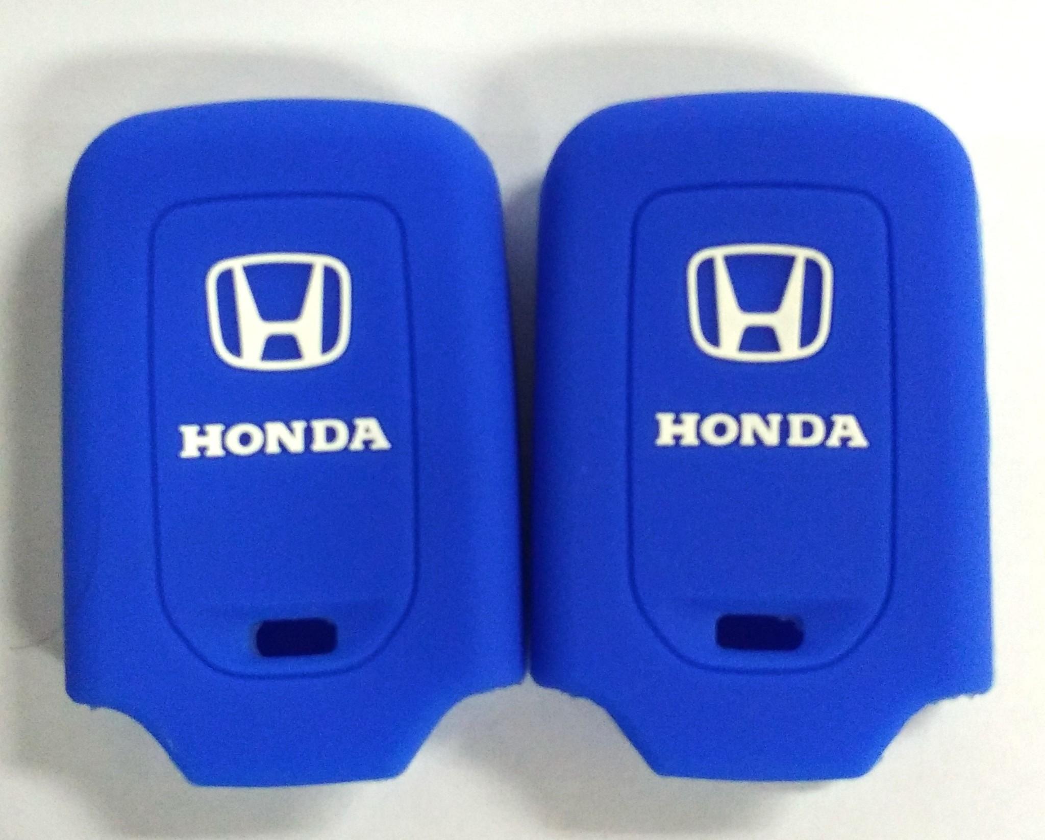 Kondom Kunci Silikon Cover Remote Keyshirt Honda HRV HR-V Jazz BIRU