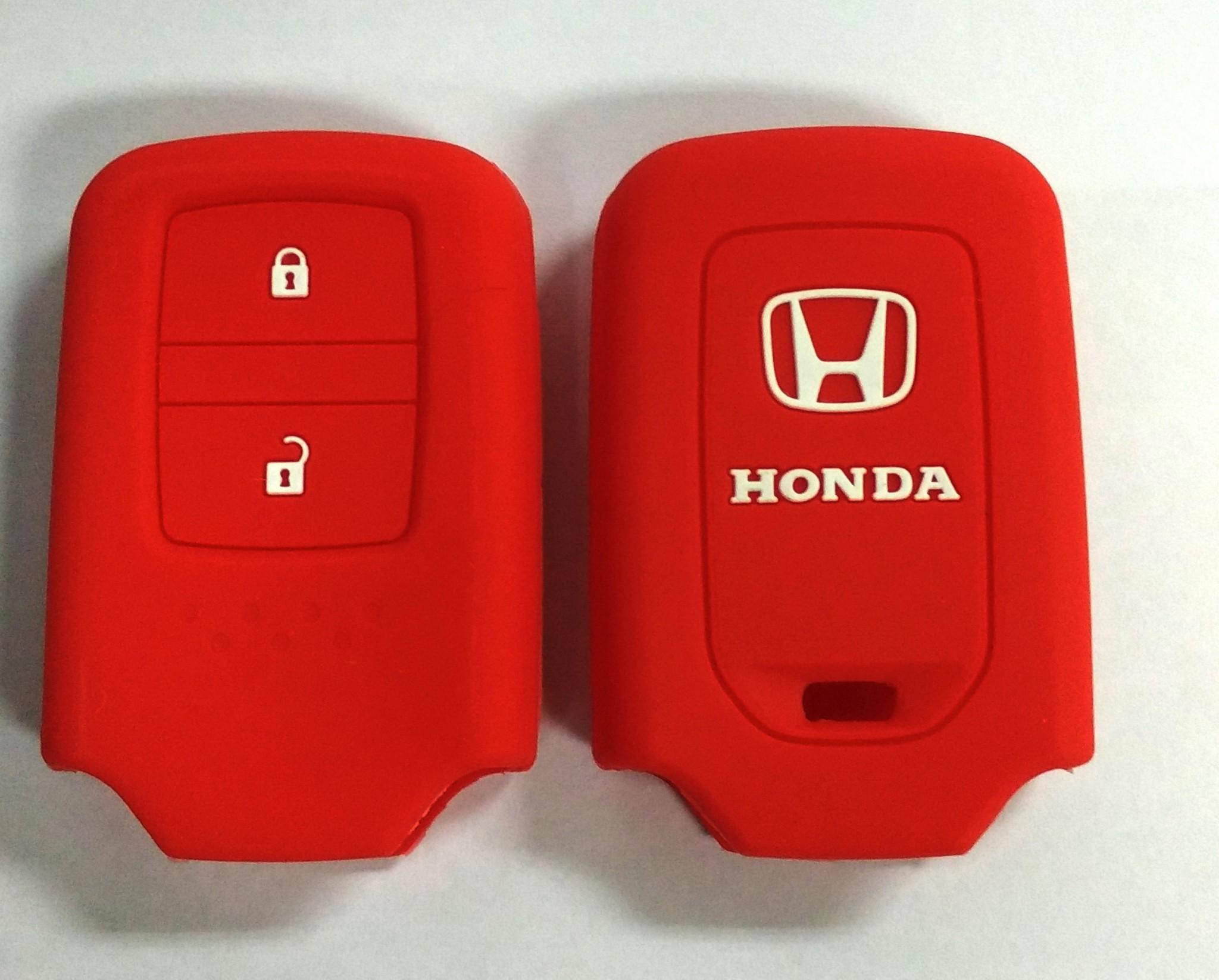 Kondom Kunci Silikon Cover Remote Keyshirt Honda HRV HR-V Jazz MERAH
