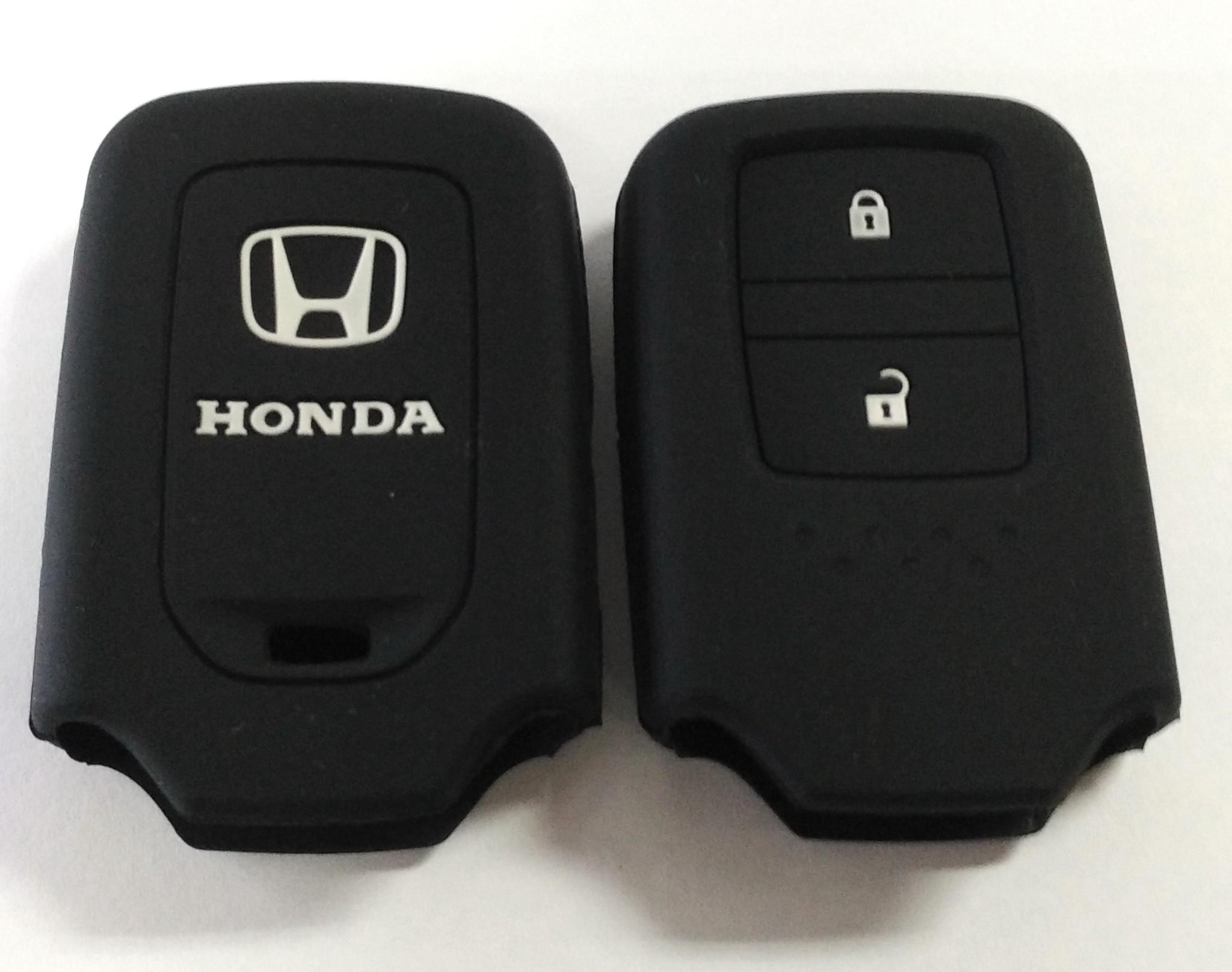 Kondom Kunci Silikon Cover Remote Keyshirt Honda HRV HR-V Jazz HITAM