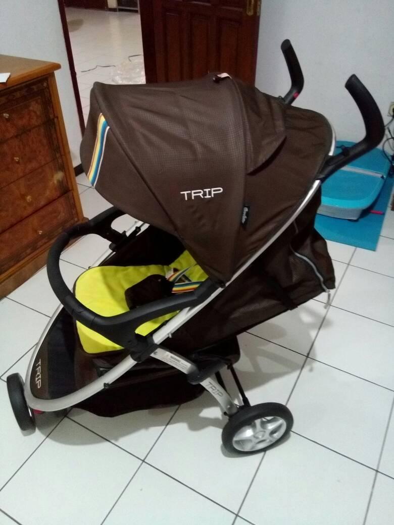 harga Second - Stroller/Kereta Bayi Merk Trip 3 Roda Coklat Tokopedia.com