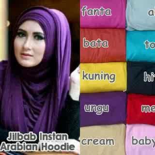 Kerudung Arabian Hoodie / hijab instan/ jilbab