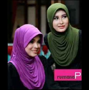 Hijab Jilbab Syari Murah Instant Rumana Polos