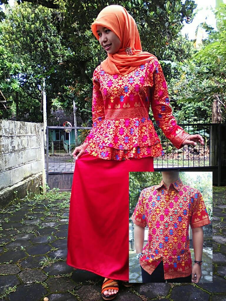 Jual baju muslim gamis gaun baju setelan sarimbit batik Jual baju gamis couple 2015