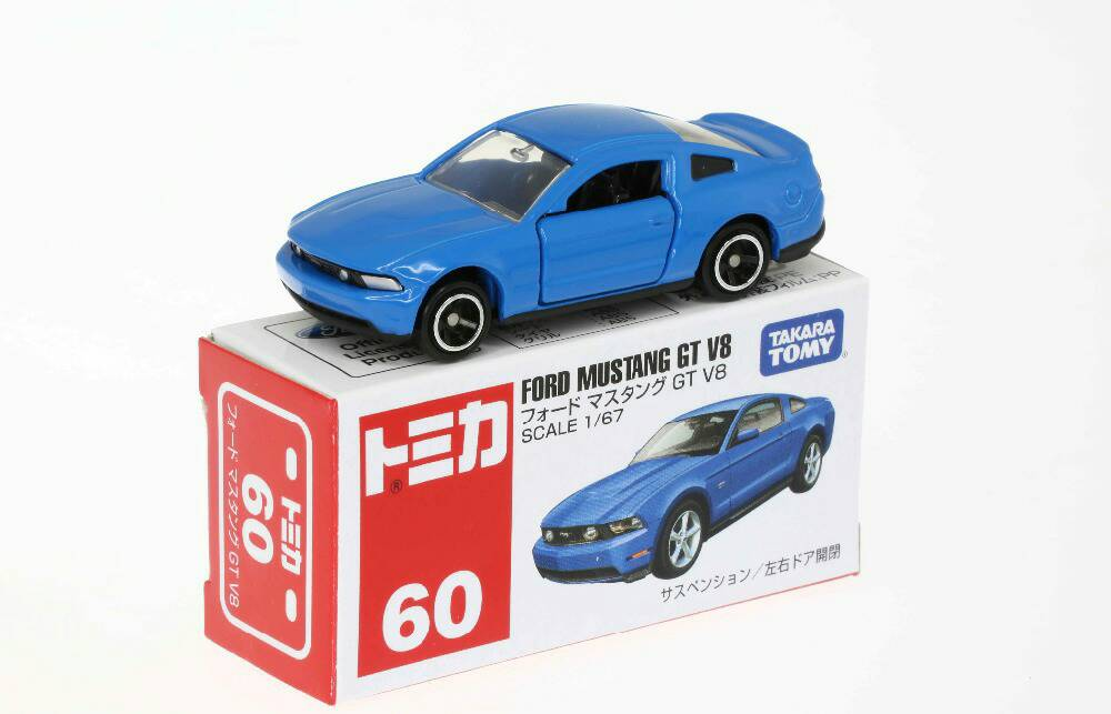 jual tomica 60 ford mustang gt v8 blue lapakmainan. Black Bedroom Furniture Sets. Home Design Ideas