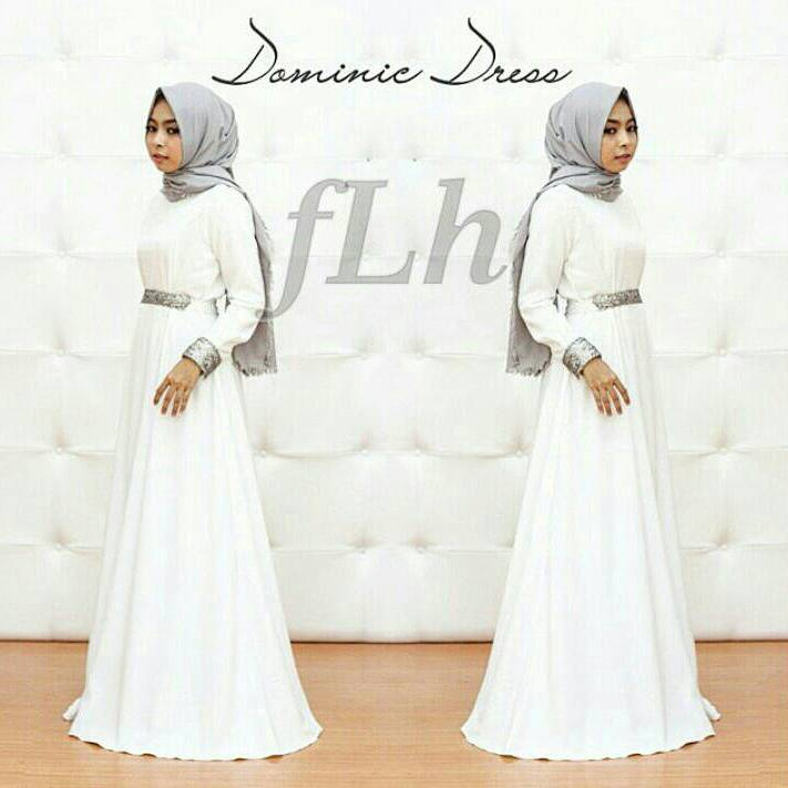 supplier hijab : dominic premium dress by flh