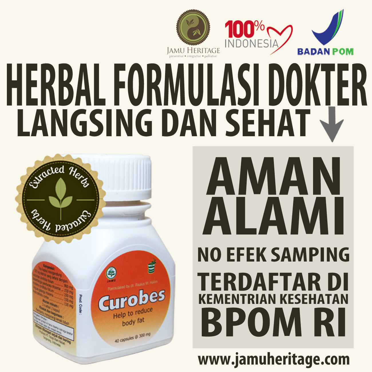 Jual Jamu Herbal Kurus Alami Formulasi Dokter - Langsing ...