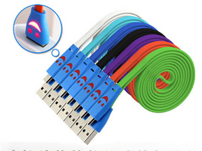 Distributor Kabel Data USB Smile LED Murah