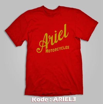 harga KAOS MOTOR TUA KLASIK AJS ARIEL BRITISH MOTORCYCLE KODE:ARIEL3 Tokopedia.com
