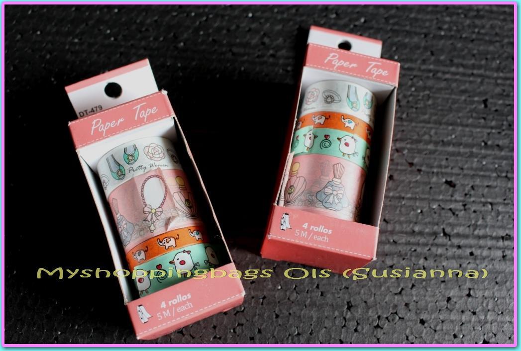 harga Paper / masking tape / washi tape / solasi kertas motif bergambar Tokopedia.com