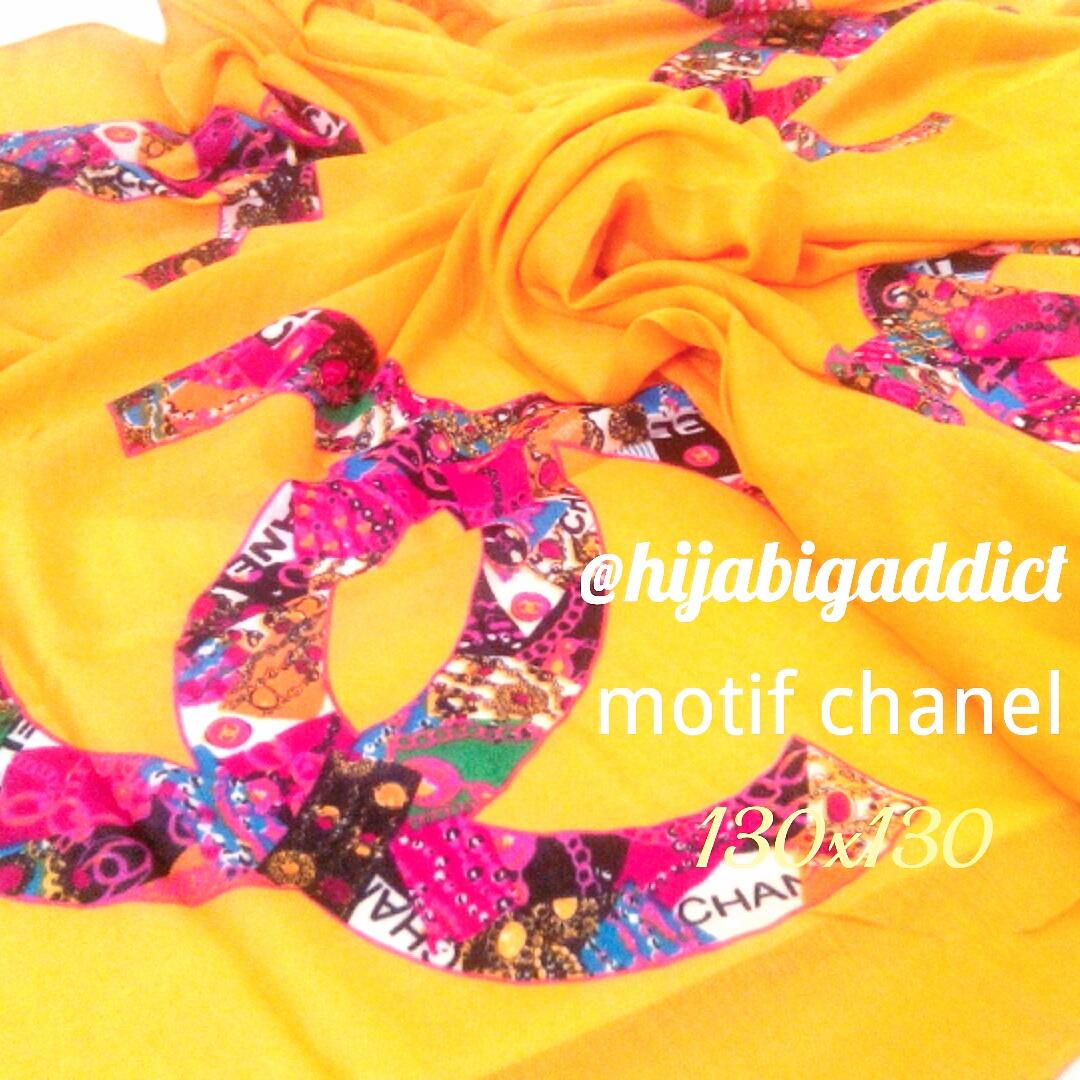 harga Jilbab/Kerudung Segi Empat Syar'i Motif Chanel Tokopedia.com