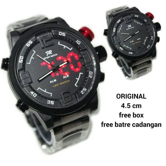 Jual Jam tangan FORTUNER DUAL DIGITAL BLACK RED (SEIKO ... ee1bfde2c9
