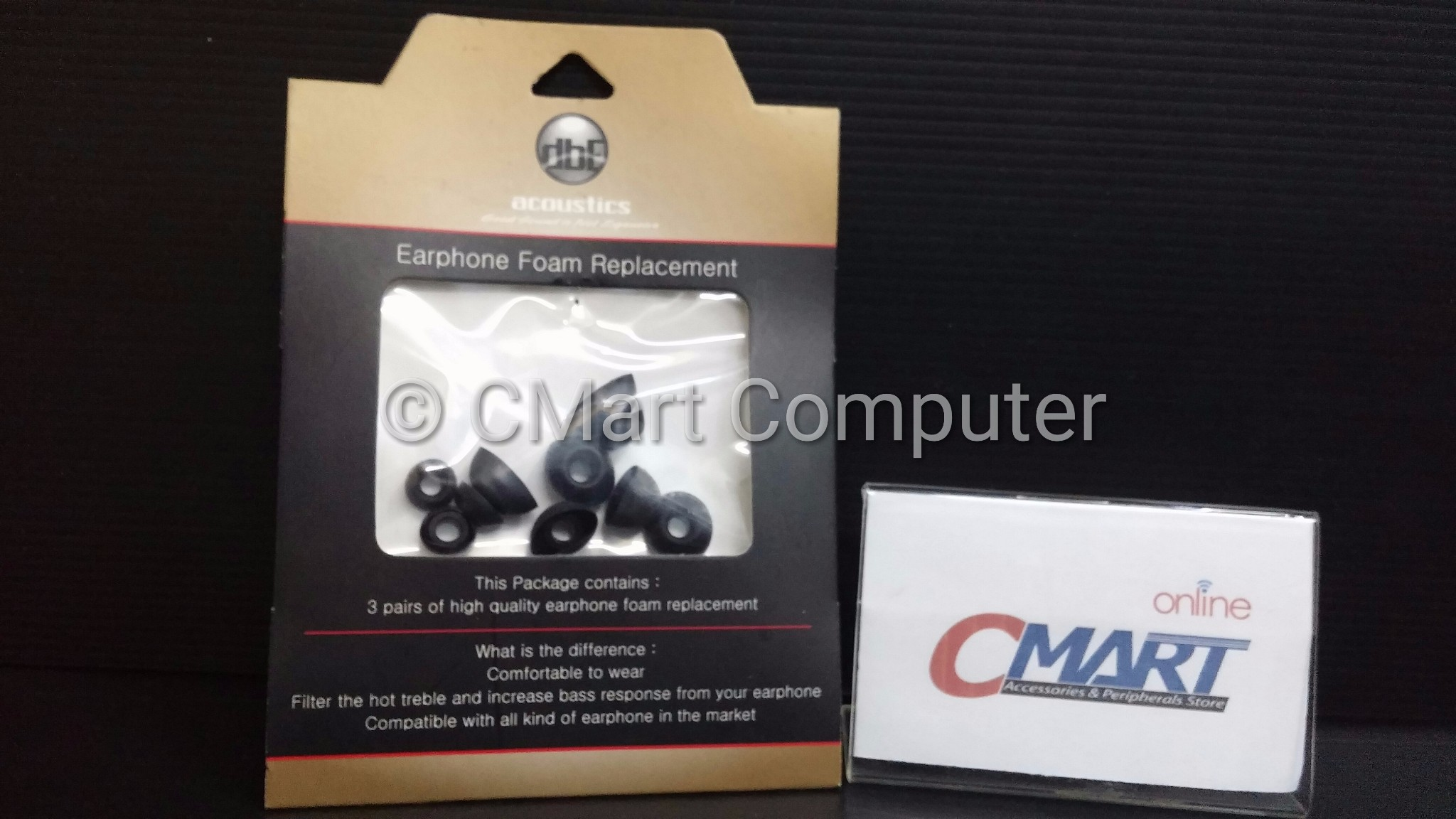 Dbe Acoustics Earbud Foam Spec Dan Daftar Harga Terbaru Indonesia Earphone Ws10 Non Mic Jual Eartips 3 Pairs Of Replacement Cmart Computer Tokopedia