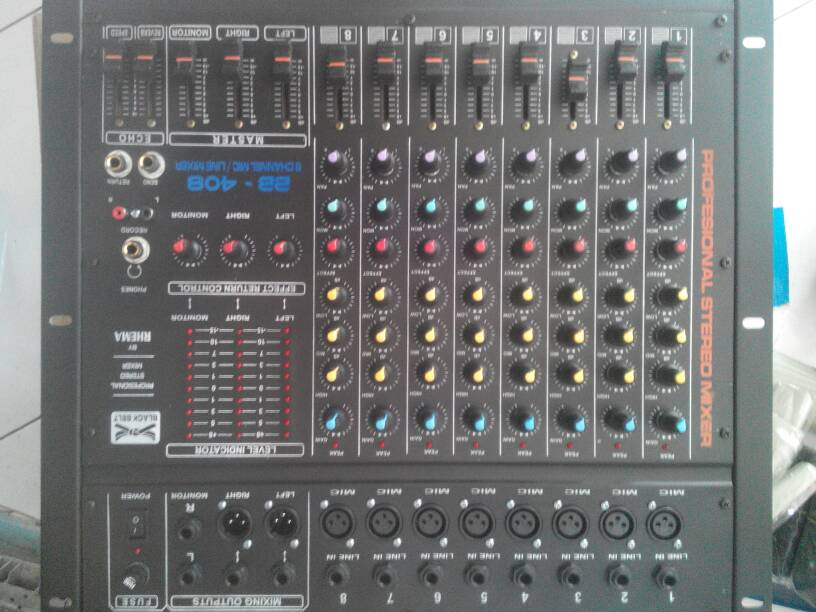 MIXER AUDIO BLACKBELT BB 408 (RHEMA) 8 CHANEL