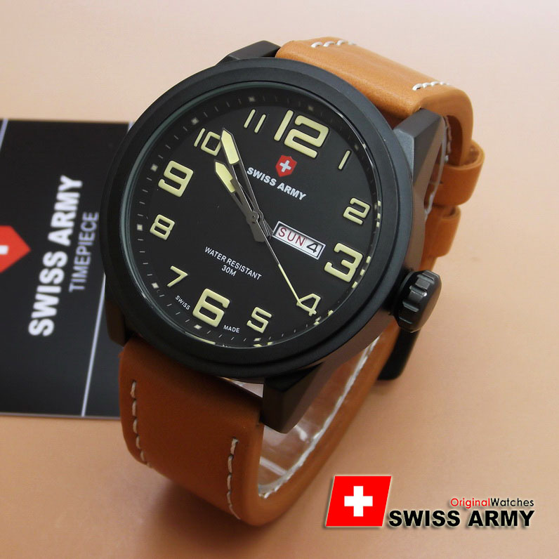 Swiss Army SA6401M (Light Brown Leather List Krem)