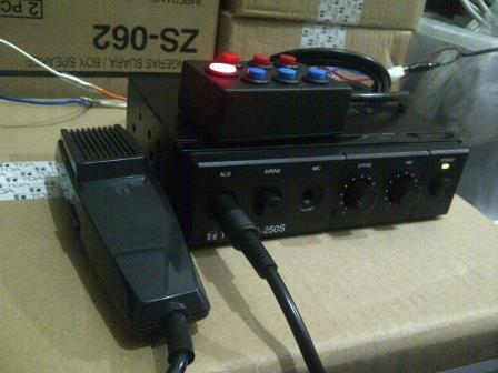 Amplifier TOA 7 suara, ZA 250S, Sirine Polisi