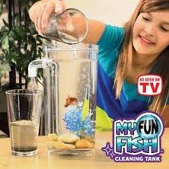 Jual my fun fish cleaning tank magic aquarium aquarium for Fun fish tank