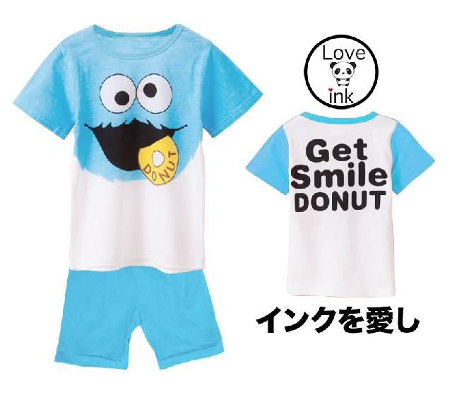 STKDL126 - Setelan Anak Elmo Donat Blue Murah