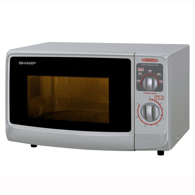 Sharp Microwave Oven R-222Y Silver dan White Thailand