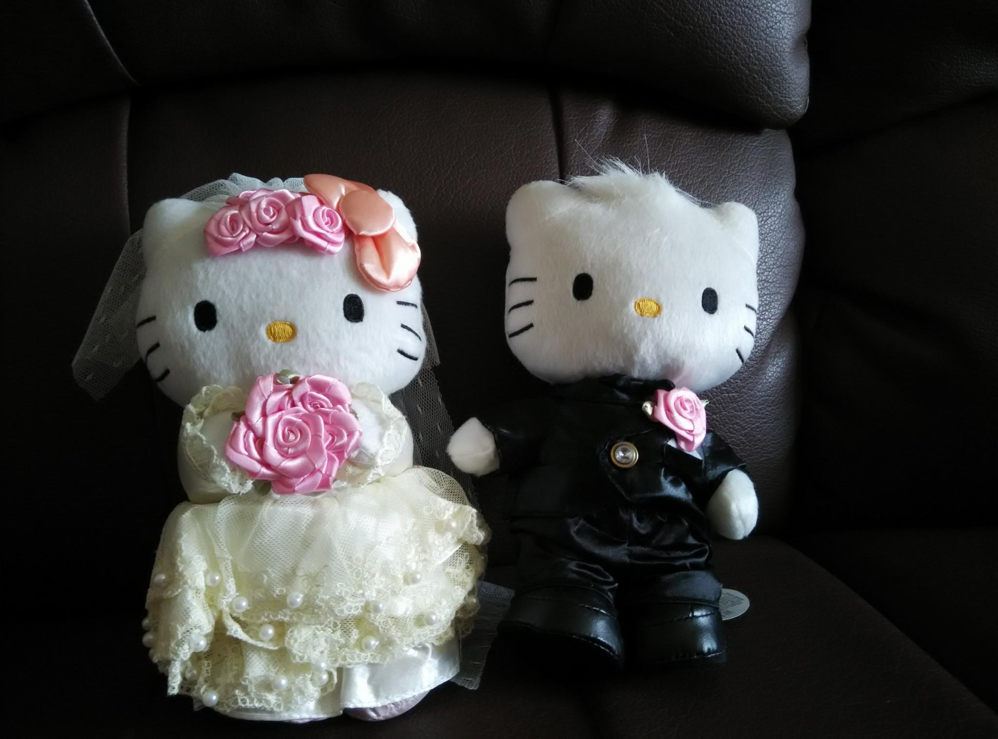 Jual Boneka Hello Kitty Couple Wedding Little Tiffa Tokopedia 1