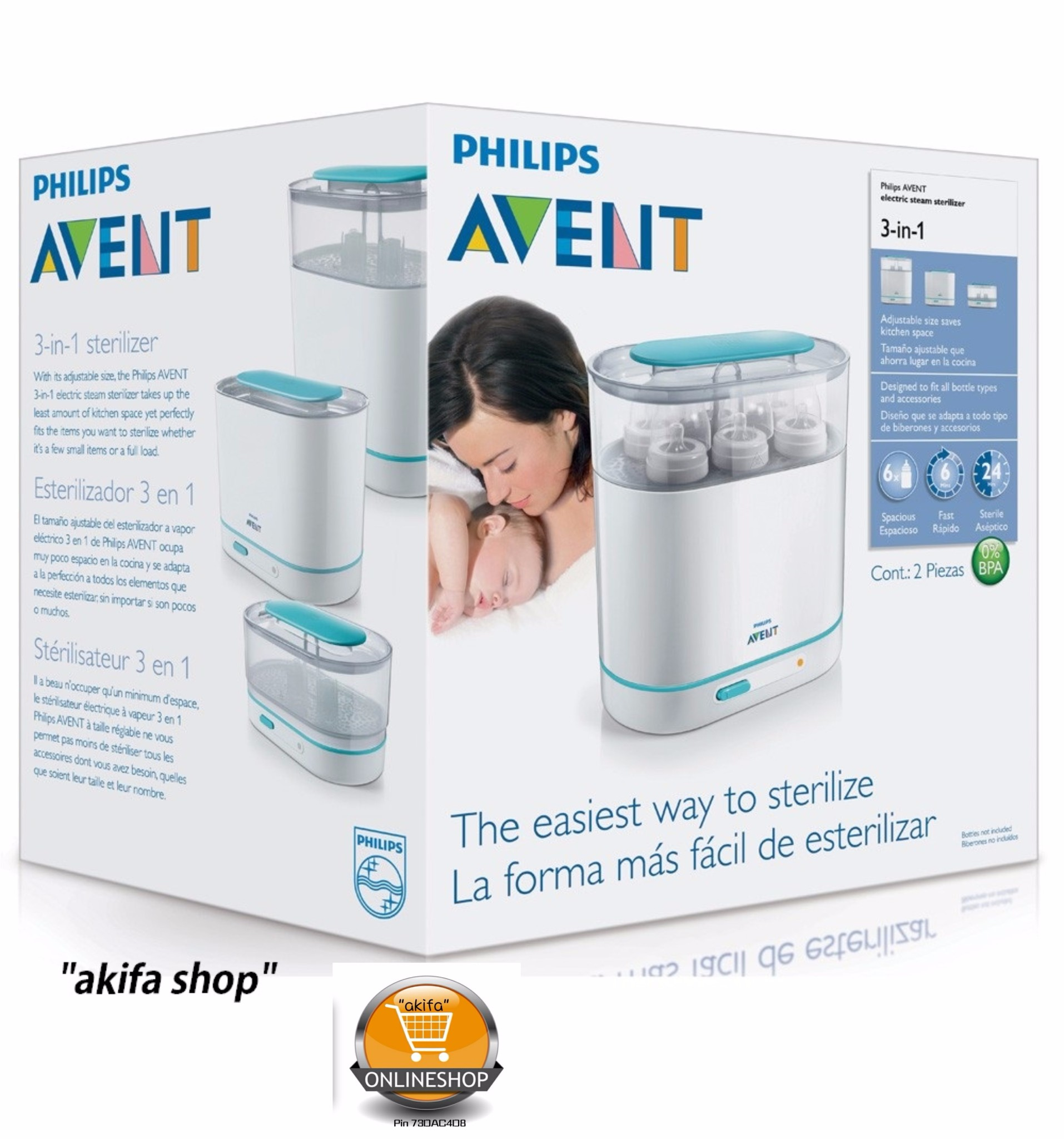 philips avent steam steriliser instructions