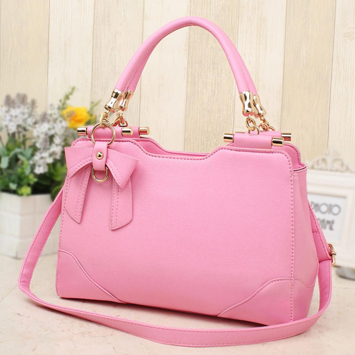 diskusi produk p5191 tas jinjing handbag slingbag wanita pink hitam elegan impor batam import bags tokopedia